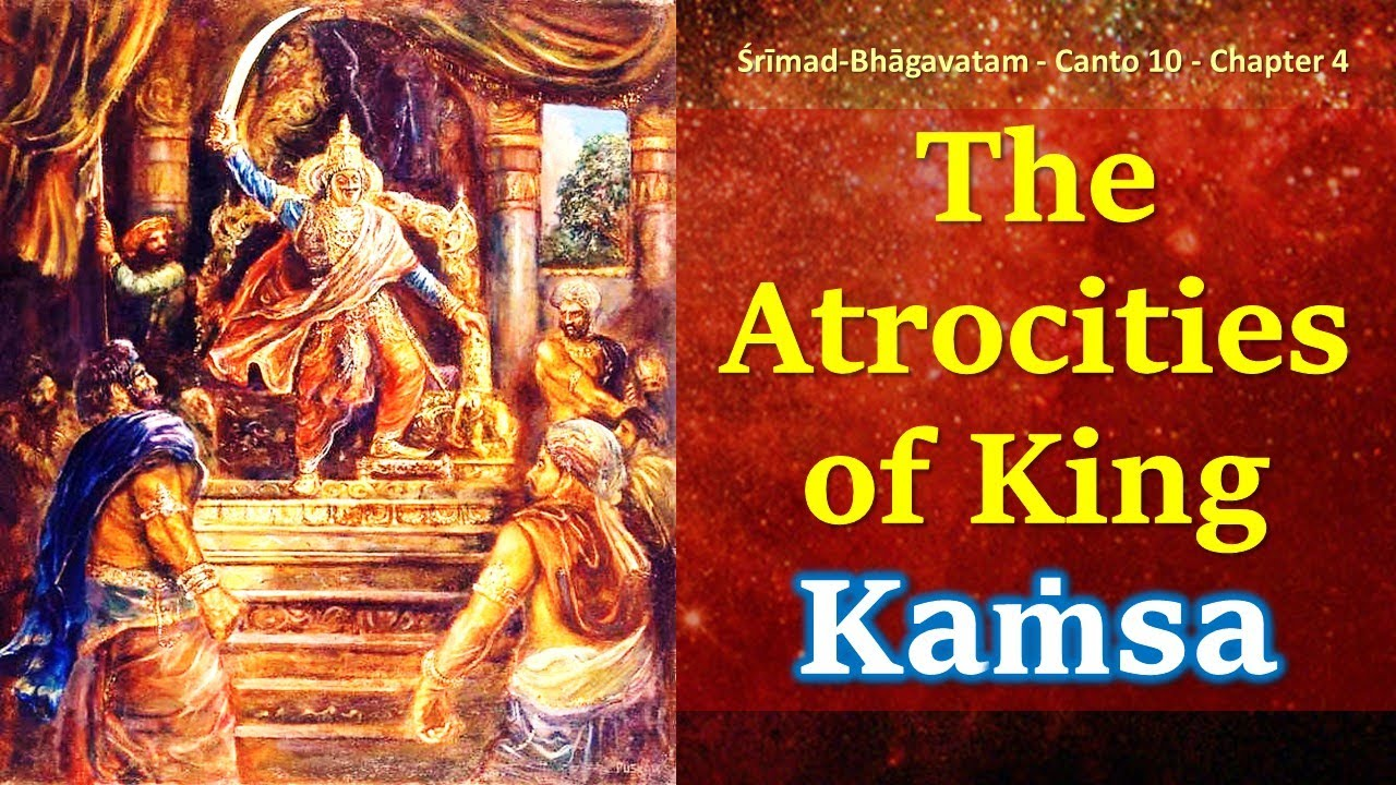 SB 10.4 The Atrocities of King Kamsa | Srimad Bhagavatam | Canto 10 | Chapter 4 | Krishna lila