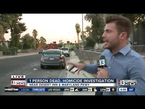 Homicide investigation in central Las Vegas