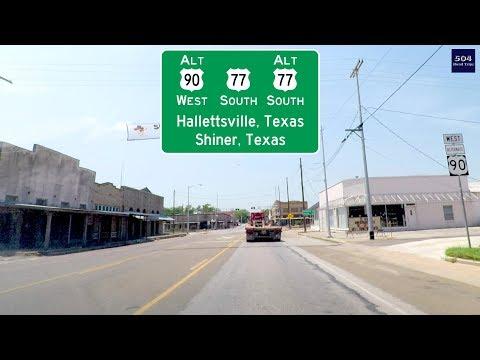 Road Trip #300 - US-90 ALT West - Hallettsville through Shiner, Texas