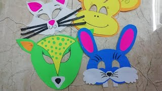 Animal mask making DIY for school project