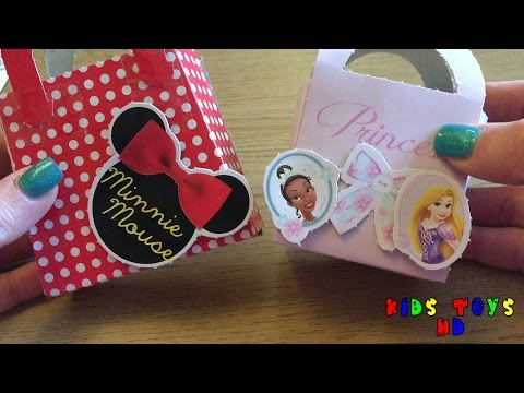 Making Disney Princess & Minnie Mouse Gift Baskets - Kids Toys HD