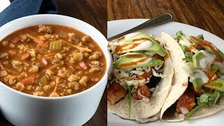 Veggie Grill Review: Koreatown Tacos & Beef Barley Soup