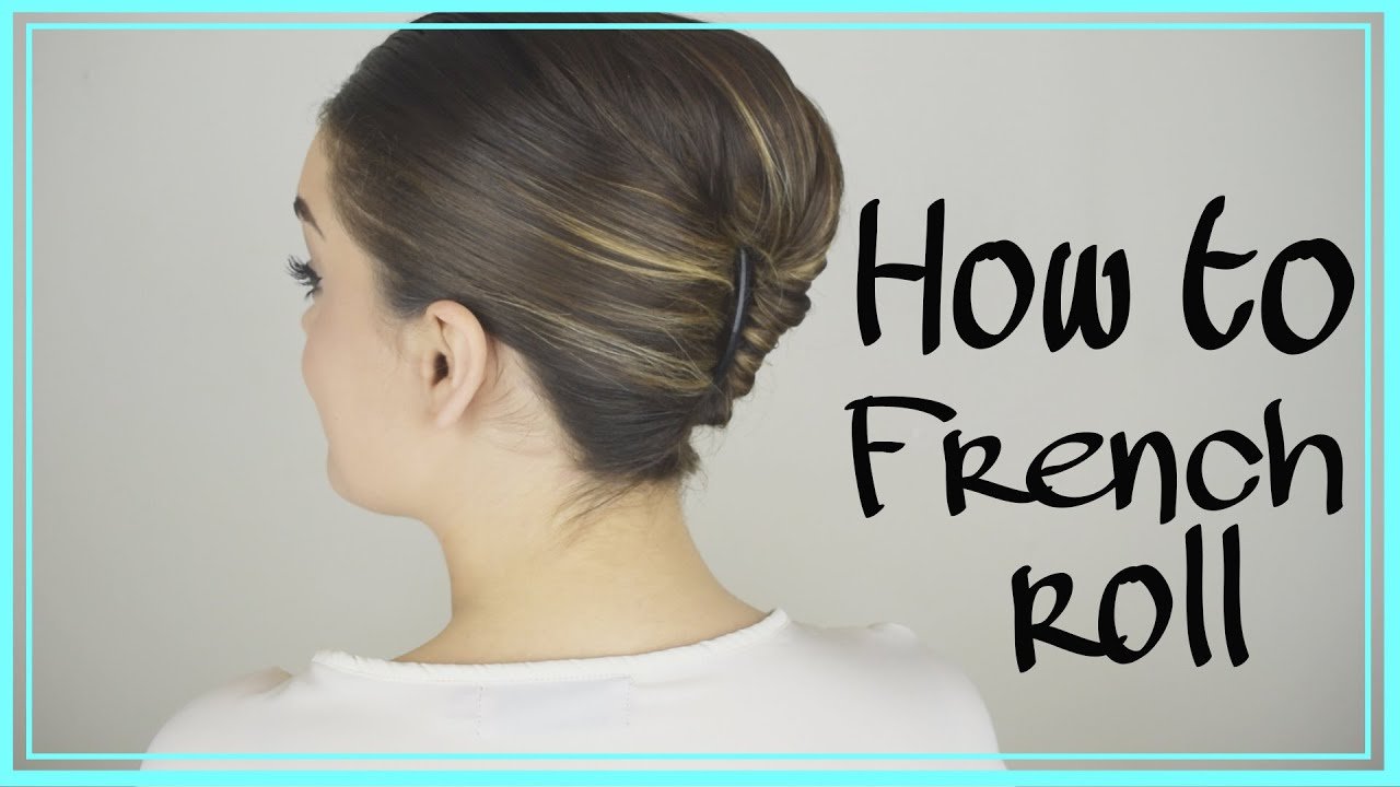 how to do a french twist in your own hair! easy trick! - youtube