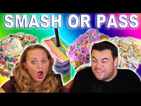 SMASH OR PASS! Food Edition | Pop Tarts with Fruity Pebbles?!