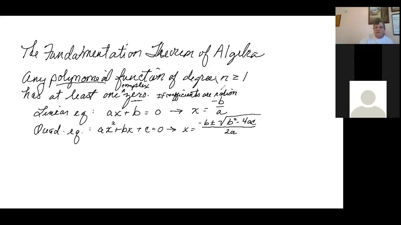 The Fundamental Theorem of Algebra   YouTube