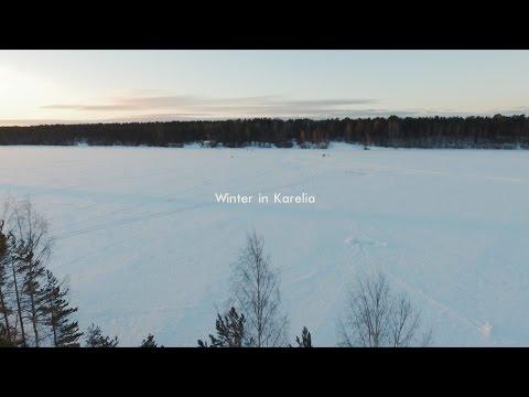 Amazing winter in Karelia   Quadcopter film