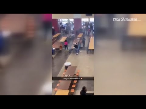 Four students hurt when fireworks set off in cafeteria of Klein Forest High School