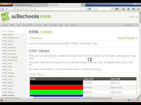 How To Create A Horizontal Dropdown Menu In HTML AND CSS 2013
