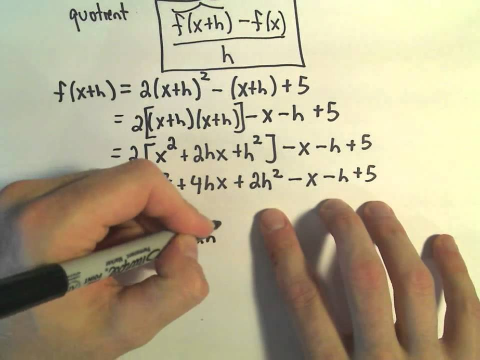 Difference Quotient (solutions, examples, videos, worksheets ... on
