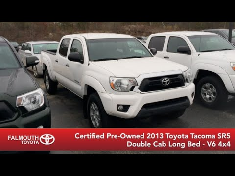 certified 2013 toyota tacoma sr5 d cab long bed 4x4 for sale at falmouth toyota bourne ma youtube. Black Bedroom Furniture Sets. Home Design Ideas