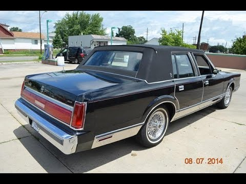1986 Lincoln Town Car For Sale Triple Black Low Miles