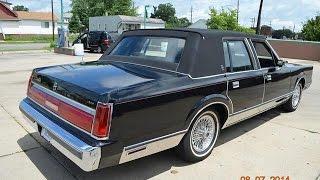 1986 Lincoln Town Car for sale triple black, low miles auto appraisal Detroit Mi
