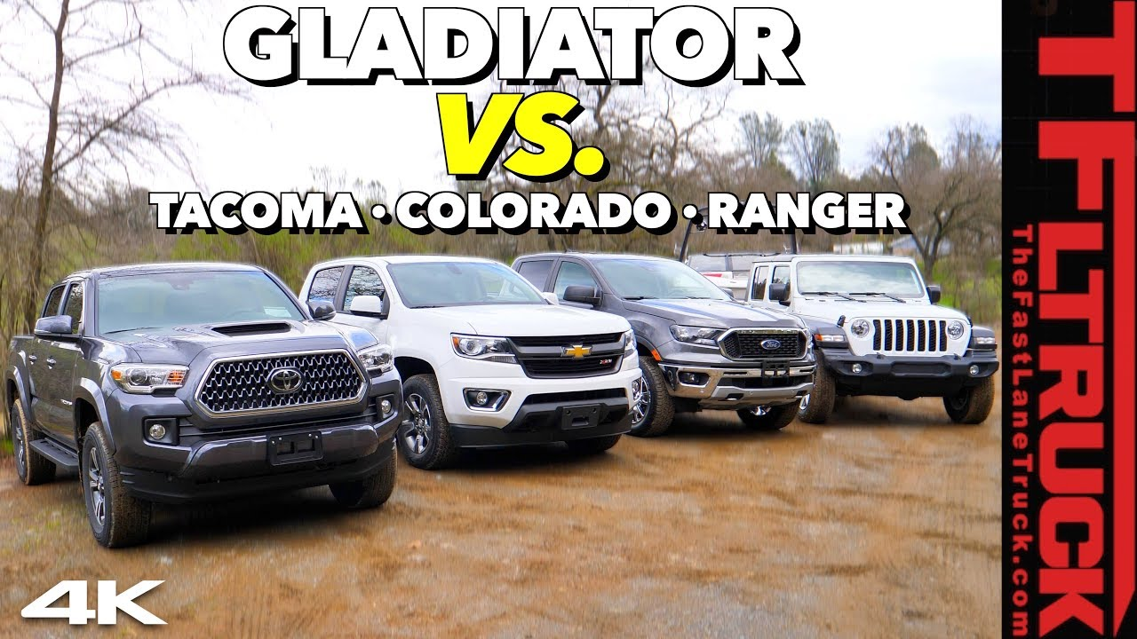 The 2020 Jeep Gladiator Takes On Tacoma Ranger Colorado In