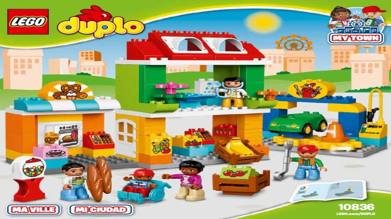 Lego Duplo Town 2017 Town Square 10836 Youtube