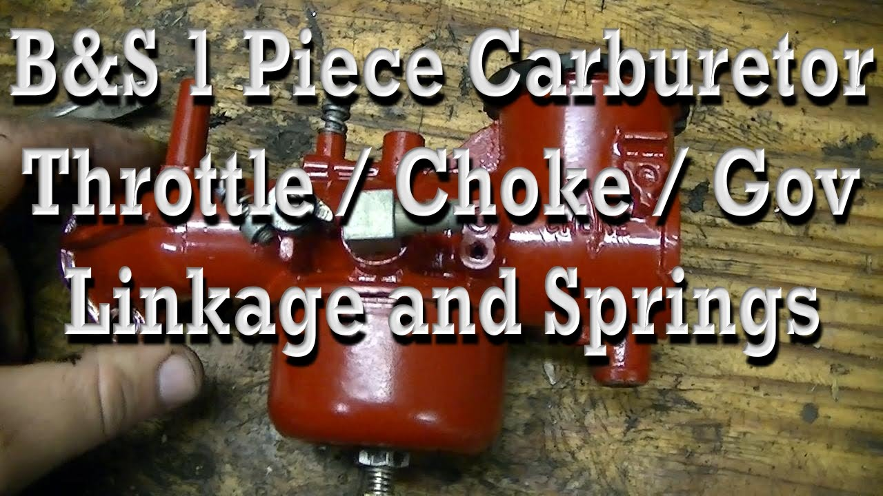 hight resolution of how throttle choke governor linkage spring is setup on briggs one piece carburetor youtube