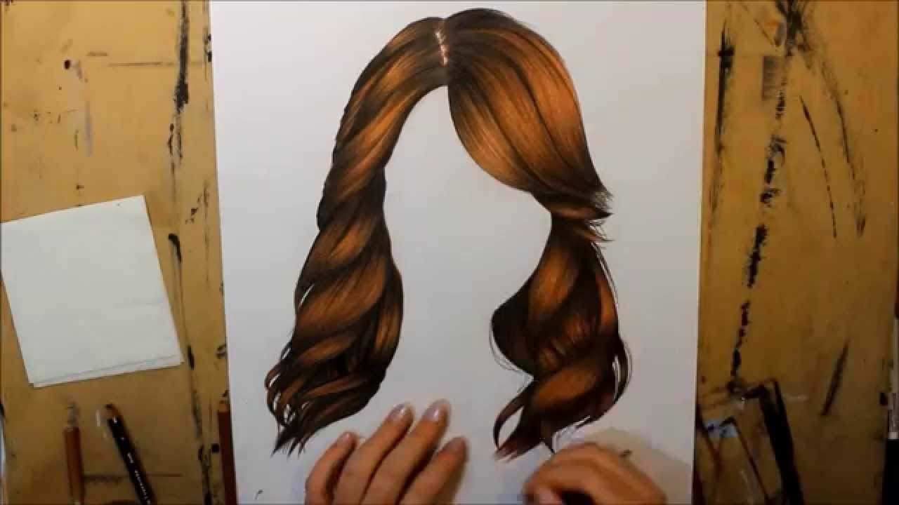 Art color hair - Hair Tutorial Colour Pencil