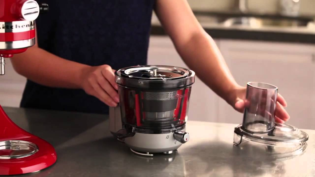 Kitchenaid Ksm1ja Masticating Juicer Attachment Review : KitchenAid Stand Mixer Juicer & Sauce Attachment Setup KSM1JA - YouTube