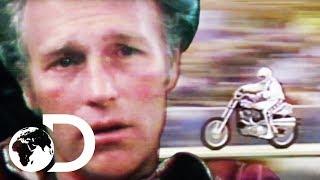 I Am Evel Knievel | Evel Knievel's Daring London Bus Jump And Crash