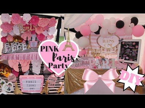 Pink Paris Party | DIY Party Ideas