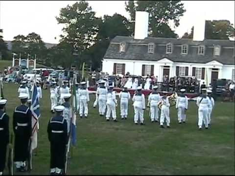 Acadia Cadets , Ceremony of the flags Aug 02 2015 , Fort Anne , Annapolis Royal .