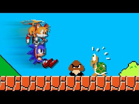 How Sonic could easily finish Super Mario Bros. Level 1-1