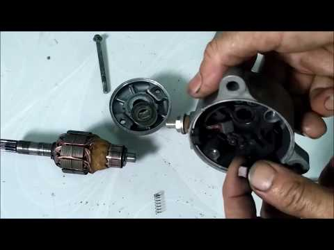 Tutorial lengkap cara service dinamo starter motor.