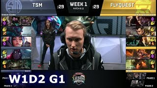 TSM vs FlyQuest | Week 1 Day 2 S8 NA LCS Summer 2018 | TSM vs FLY W1D2