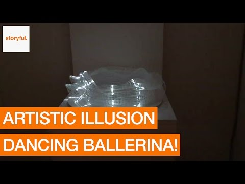 Spinning Wheel of Wire and Light Creates a Dancing Ballerina Illusion (Storyful, Inspiring)
