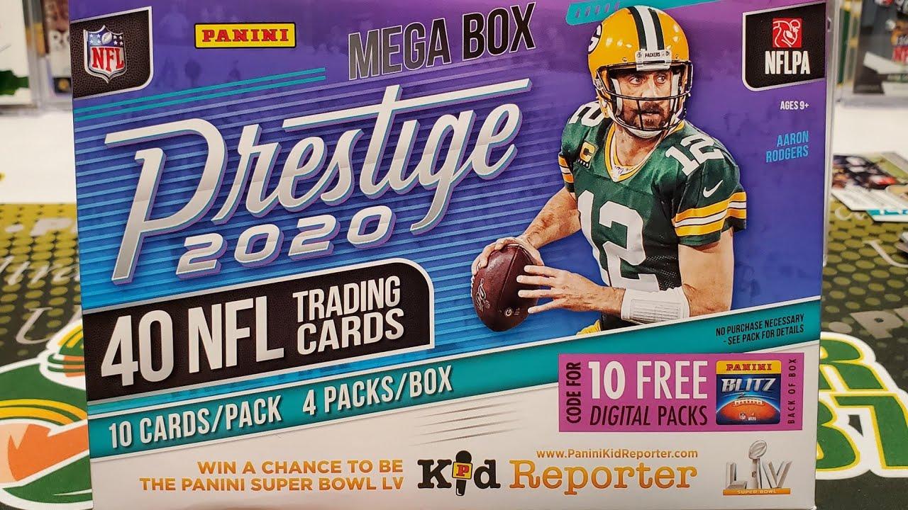 2020 Prestige Football Mega Box Opening. 2 Autos!