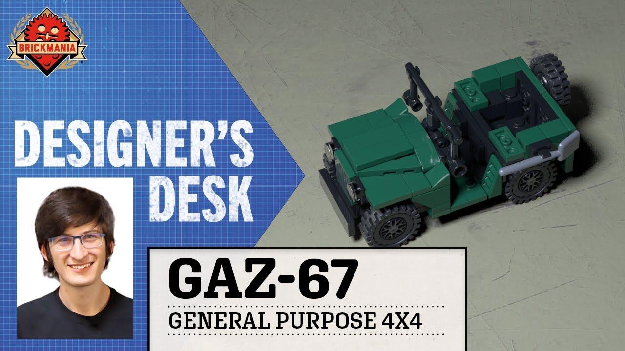 At The Designer's Desk - GAZ-67 - General Purpose 4x4 - Custom Military Lego