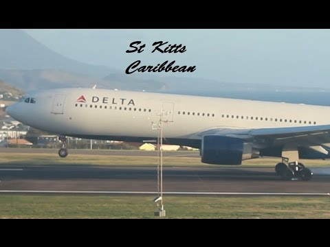 Delta Airlines A330-300 and Others @ St Kitts Robert L. Bradshaw Int'l Airport