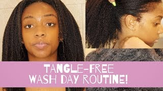 Wash Day Routine on Dry, Tangled Texlaxed Hair