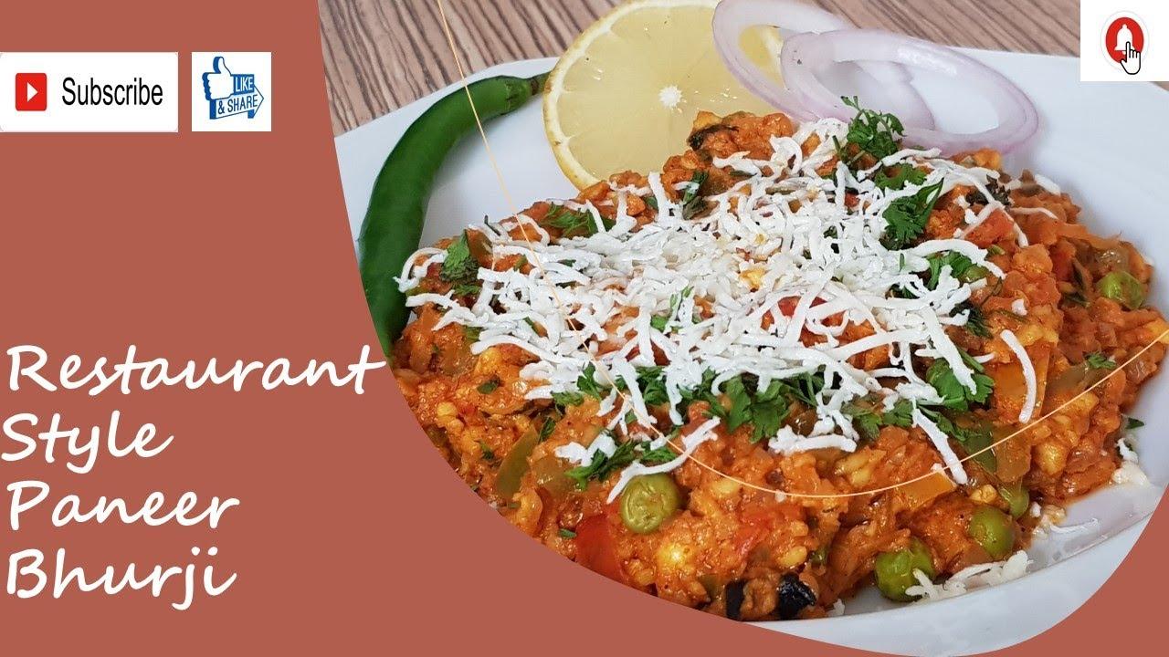 Paneer Bhurji   Paneer Recipe   Restaurant Style Paneer ...