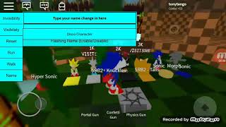 Qm loved sonic Roblox with faded skin