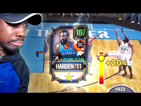 107 OVR HARDEN SHOOTING INSANE 3-POINTERS! NBA Live Mobile 20 Season 4 Pack Opening Gameplay Ep. 67