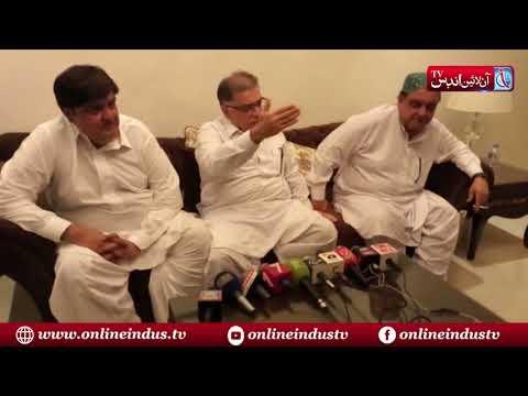 Tando Allahyar: Haji Khair Muhamamd Khokhar holds a Press conference