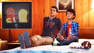 Life Is Strange 2 Sean And Daniel Watching Hawt Dog Man Cartoon Show