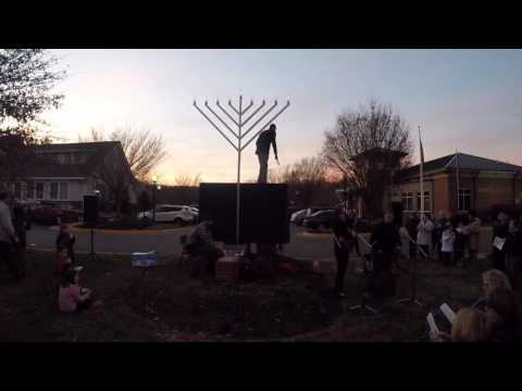 Fredericksburg 2015 Public Menorah Lighting
