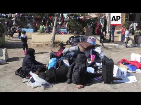 Migrants stranded in Athens port as border shut
