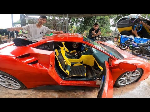 Ferrari hoàn thành nội thất mới | Complete luxury interior for ferrari wood furniture replacement