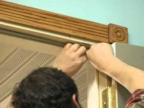 Door weather stripping youtube for Door weather stripping