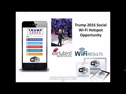 Social Wi-Fi Hotspots for Political Events