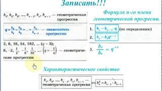 Урок 4_2. Геометрическая прогрессия. Формула n-го члена.