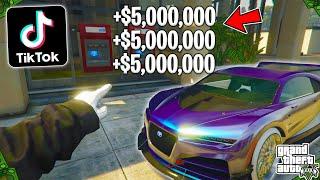 Testing Viral TikTok GTA 5 Online Money Glitches! (Part 22)
