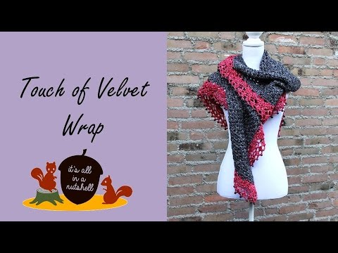 Touch of Velvet Wrap - Free Crochet Pattern