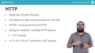 Python tutorial: HTTP requests to import data from the web