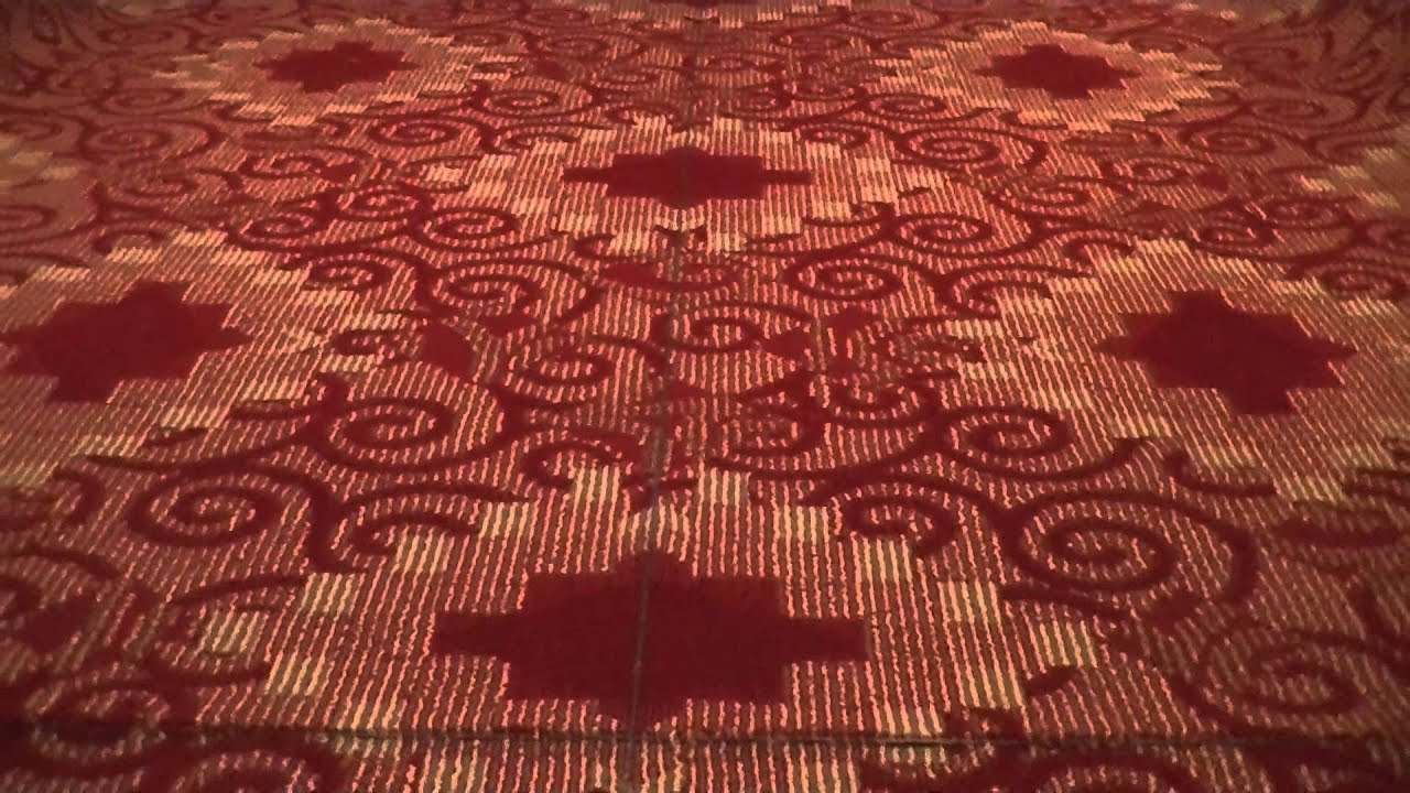 patterned commercial carpet in very long hotel corridors (200' +)