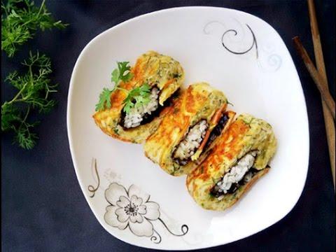 Trứng cuộn cơm – Hướng dẫn nấu ăn – Món ngon mỗi ngày – Món ngon dễ làm