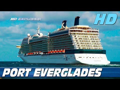 Cruise ships leaving Port Everglades (Fort Lauderdale) - Part 1