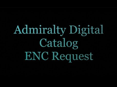 Admiralty Digital Chart Catalog ENC Request (HD)